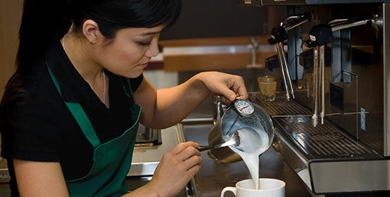 Barista Making Starbucks Espresso